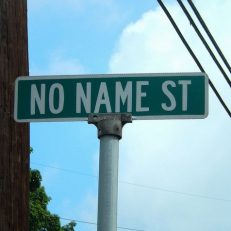 No Name Street Sign